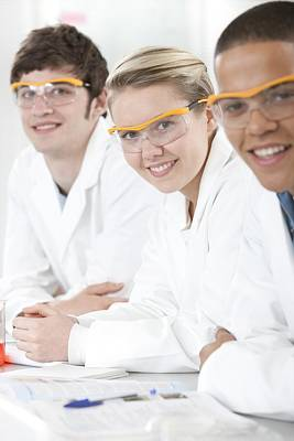 Student Section Photograph - Pupils In A Science Lesson by