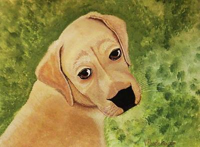 Painting - Puppy Dog Eyes by Victoria Rhodehouse