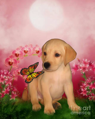 Retriever Digital Art - Puppy Innocence by Smilin Eyes  Treasures