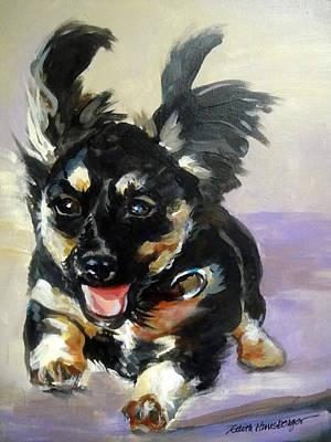 Puppy Joy Art Print