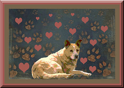 Puppy Love Art Print by One Rude Dawg Orcutt