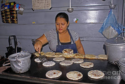 Photograph - Pupusa Lady El Salvador by John  Mitchell