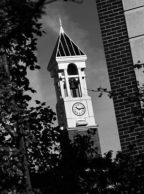 Photograph - Purdue Bell Tower Closeup by Coby Cooper
