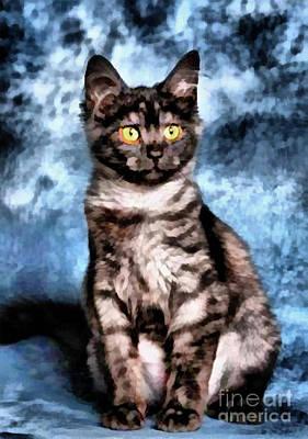 Painting - Purdy Kitty Kat by Scott B Bennett