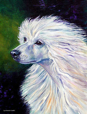Pure Poetry - Chinese Crested Art Print by Lyn Cook