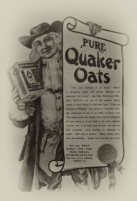 Oatmeal Photograph - Pure Quaker Oates by Bill Cannon