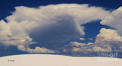 Photograph - Pure White Sand And Mountain Storms by Roena King