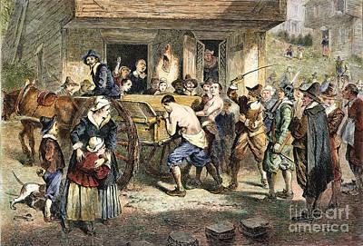 Puritans: Punishment, 1670s Art Print by Granger