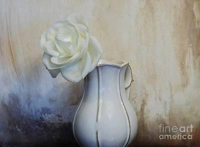 Purity Rose Art Print by Marsha Heiken