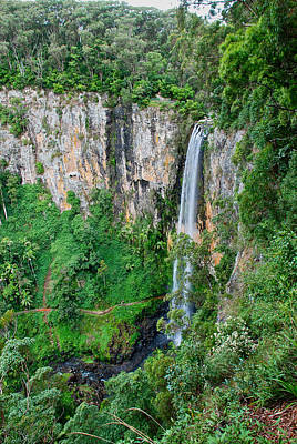 Photograph - Purlingbrook Falls In Australia by Eric Tressler