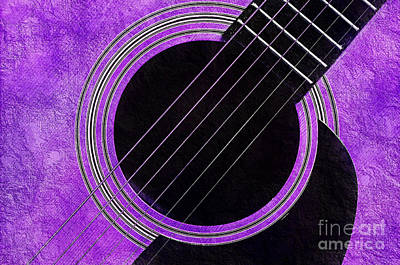 Photograph - Purple 1 Guitar by Andee Design