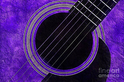 Photograph - Purple 3 Guitar by Andee Design