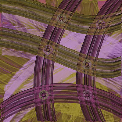 Digital Painting - Purple And Sage Abstract by Bonnie Bruno