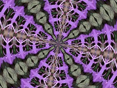 Purple Azaleas Fractal Art Print by Skyler Tipton