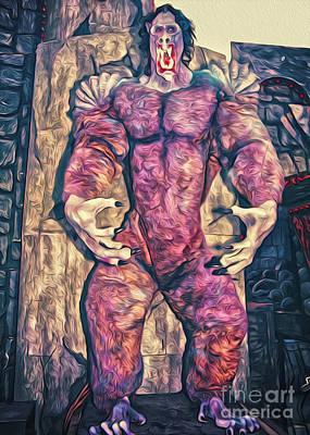 Purple Carnival Monster Art Print by Gregory Dyer