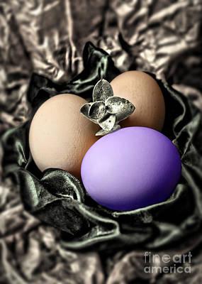 Photograph - Purple Classy Easter Egg by Danuta Bennett