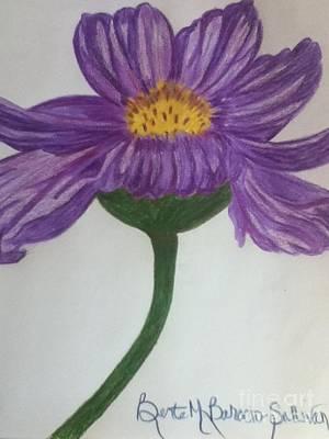 Purple Cosmo Art Print by Berta Barocio-Sullivan
