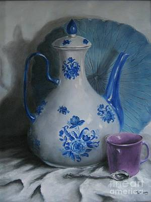 Painting - Purple Cup by Patricia  Lang