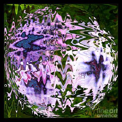 Purple Daisies World - Abstract Art Art Print by Carol Groenen