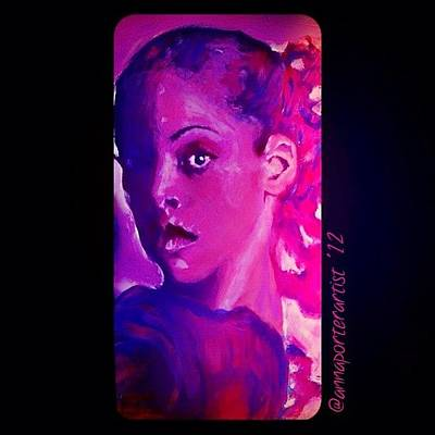 Acrylic Wall Art - Photograph - Purple Dancer 2012 Digital Painting By Annaporterartist by Anna Porter