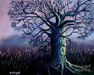 Baobab Painting - Purple Dawn by Caroline Street
