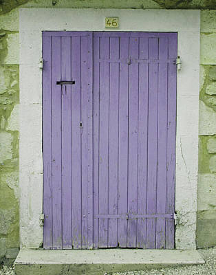 Purple Door Number 46 Art Print by Georgia Fowler