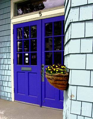 Purple Doors Art Print