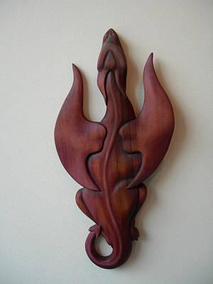 Purple Dragon Plaque Art Print by Shane Tweten