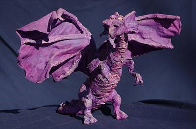 Sculpture - Purple Dragon by Rick Ahlvers