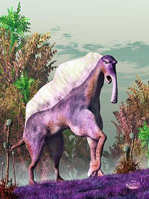 Camel Digital Art - Purple Fantasy Creature by Daniel Eskridge