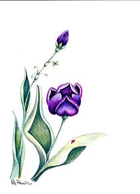 Purple Fantasy Art Print by Paula Greenlee