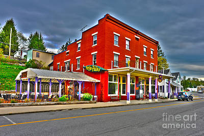 Art Print featuring the photograph Purple Fiddle In Thomas Wv by Dan Friend