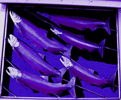 Purple Fish Art Art Print by Kym Backland
