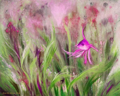 Painting - Purple Fish by Gina De Gorna