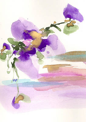 Drawing - Purple Flower by Darlene Flood