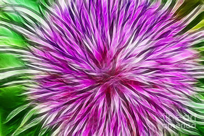 Photograph - Purple Flower Fractal by Donna Greene