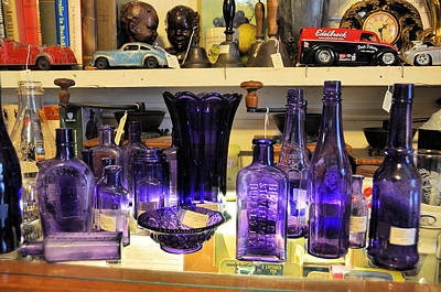 Photograph - Purple Glass Collection by Jan Amiss Photography