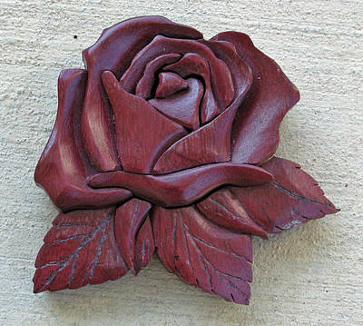 Purple Heart Rose Art Print