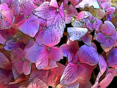 Purple Hydrangea Art Print by Elaine Plesser