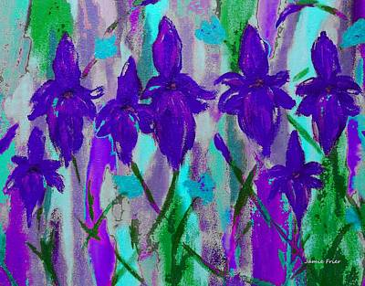 Painting - Purple Iris by Jamie Frier