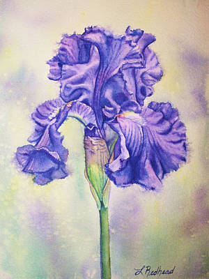 Painting - Purple Iris by Leslie Redhead