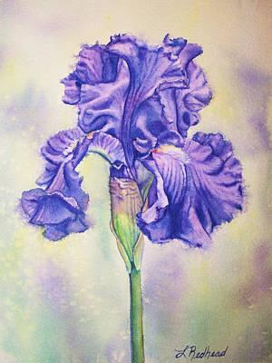 Painting - Purple Iris by Leslie Redhead