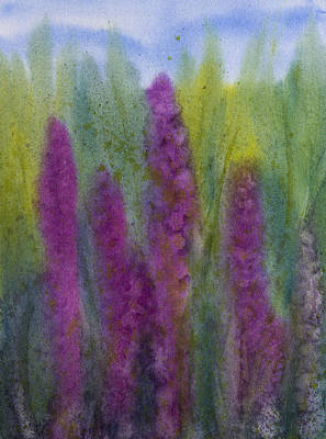 Purple Loosestrife Art Print by Debbie Homewood