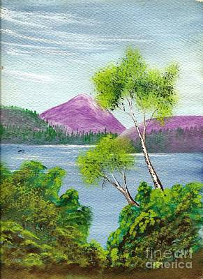 Painting - Purple Majestic Mountains by Jessi and James Gault