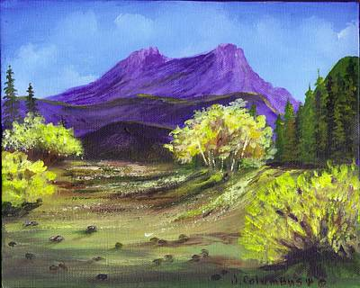 Painting - Purple Mountain Beauty by Janna Columbus