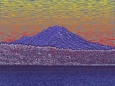 Sound Digital Art - Purple Mountain Majesty Sunset by Tim Allen