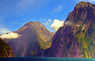 Photograph - Purple Mountain's Majesty At Milford Sound by Harry Strharsky