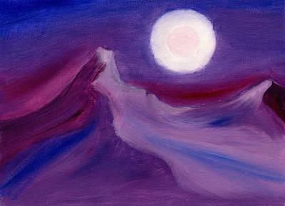 Purple Night 2 Print by Hakon Soreide