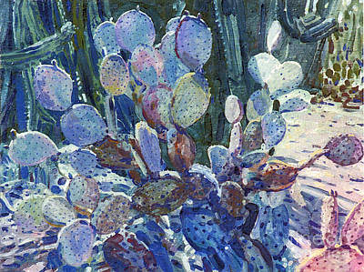 Painting - Purple Opuntia by Donald Maier