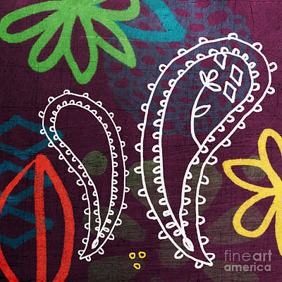 Purple Paisley Garden Art Print